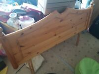 Solid pine double headboard REDUCED £20