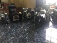Old cameras, mixed array