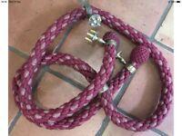 Rope / silk stair banister brass fittings