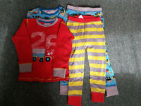 Two sets of boys pyjamas size 3-4 years