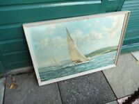 ANTIQUE SAILING BOAT PICTURE.( RACING WINGS )