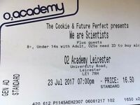 We Are Scientists ticket x1. Leicester O2 Academy. Sunday 23/07/17