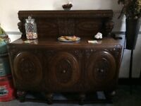 Antique solid oak hand carved sideboard £800