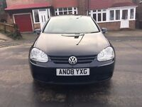 VOLKSWAGEN GOLF MK5 2008 61000 5 DOOR MANUAL 1.9 BLACK DIESEL