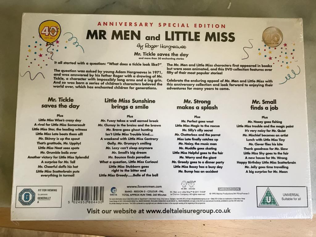 Mr Men and Little miss dvd box set | in Lambeth, London | Gumtree