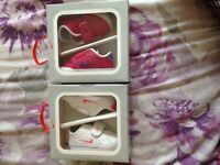 2 pairs of Nike crib shoes / trainers brand new