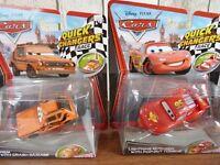 2 x Collectable NEW Disney Pixar Cars Quick Changers Bundle - GREM & LIGHTNING MCQUEEN.