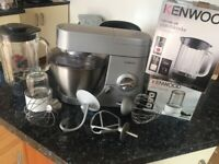KENWOOD mixer Chef Pro & glass blender & multi mill