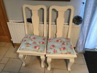 Two Mexican pine heavy chairs