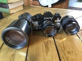 Contax 139 Quartz with 3 lenses