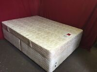 SLIMBERLAND DOUBLE DIVAN BED WITH MATTRESS,CAN DELIVER