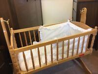 Baby crib with mattress and original liner