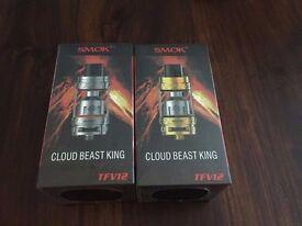 smok tfv12 cloud beast king tank kit Silver Black Gold Rainbow vape