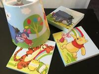 Winnie the Pooh lamp shade and pictures