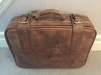 Retro brown suitcase