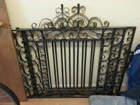 2 cast iron gates