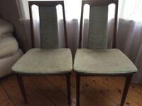 2 vintage G Plan chairs.