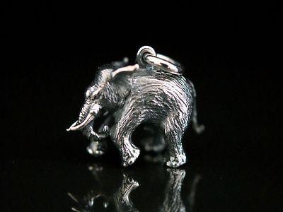 Anhänger Silber 925 voll plastisch massiv Elefant