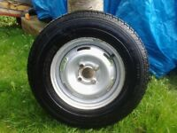 175 r13 Avon supervan tyre on 13in 4 1/2j with 100mm PCD.