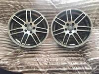 Alloy wheels Rs4 Rs6 Audi ( Chrome 18 inch )