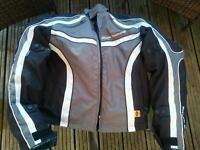Frank Thomas Aqua textile motorbike jacket