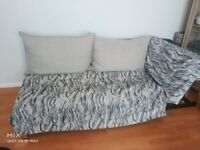 URGENT PICKUP Faux Leather Back Convertible Sofa