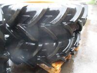 Pair of 11.2 r 24 tyres