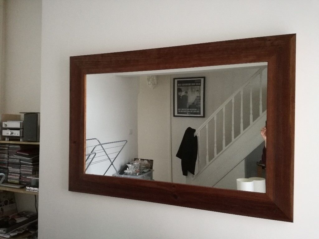 Large Dark Wood Framed Mirror In Llandaff Cardiff Gumtree