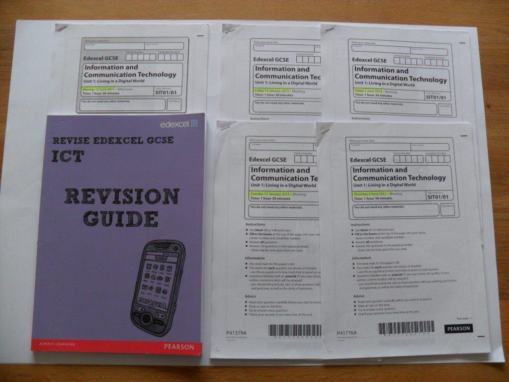 Pearson Revise Edexcel GCSE ICT Revision Guide * PLUS 5 printed Exam ...