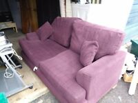 Sofa bed and armchair