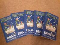 terry pratchett. Dragons at crumbling castle x5