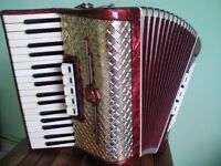 German Accordion Weltmeister Gold of 96 bass buttons