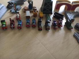 Thomas track and metal trains