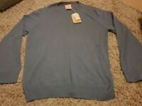 Men's Fat Face cadet blue cashmere crew sweater size XXL - Brand new with labels