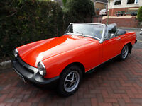 Immaculate MG Midget 1979 soft top and hard top