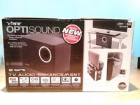 Vibe Optisound TV5D, 80 watt subwoofer with RCA, Optical input and adjustable bass control