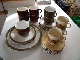 Job lot of Poole pottery crockery