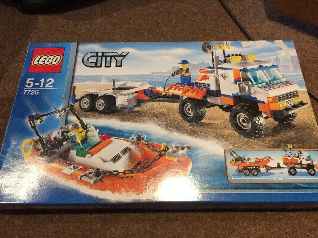 Lego city 7726 coast guard truck and speed boat