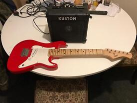 Child's Electric Guitar and Amplifier
