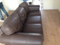 Brown Lether sofa