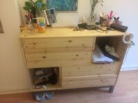 Natural Wood Dresser / 4 drawer chest Ikea