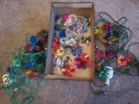2 sets of Christmas lights and spare bulbs/covers used