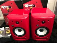 RARE KRK RP6 G2 RED FERRAR SPEAKERS / STUDIO / MONITORS / REFURBISHED (P&P UK ONLY INCLUDED)