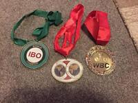Boxing world title medals