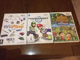 Three classic Nintendo Wii Games
