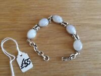 *new* ladies silver and moonstone bracelet (RRP £55)