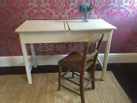 Shabby chic vintage double school desk and chair