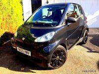 **£20 ROAD TAX** 2009 SMART FORTWO MHD PURE PETROL SEMI AUTO BLACK 999CC