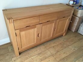 Solid Oak Dining Room Sideboard