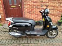 2017 SYM Fiddle III 125 automatic scooter, very good runner, low mileage, 1 owner, bargain ,,,